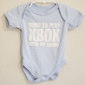 Other - Born to Play Xbox Light Blue Bodysuit